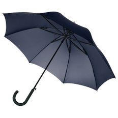 Зонт-трость антишторм полуавтомат Unit Wind, синий фото