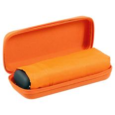Зонт складной мини механический в футляре Unit Five, 5 сложений, оранжевый фото