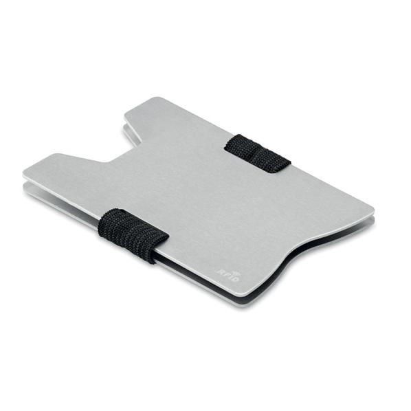 Чехол для карт с RFID, серый - фото № 1
