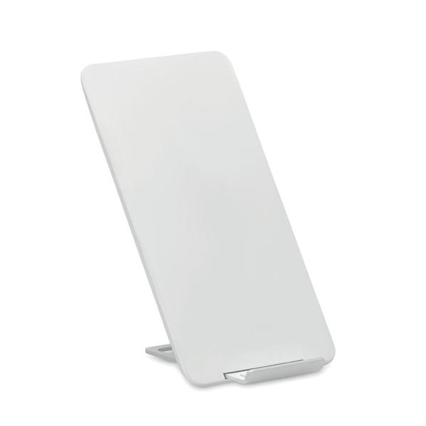 Зарядка беспроводная прямоугольная, софт тач, белая - фото № 1