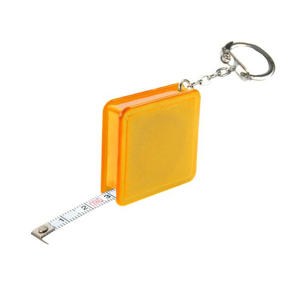 Брелок - рулетка квадратный, темно-желтый - фото № 1