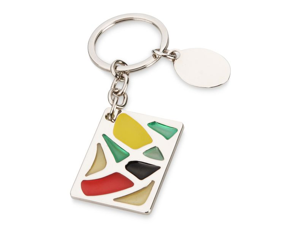 Брелок прямоугольный Витраж, цветной - фото № 1