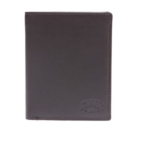 Бумажник мужской Klondike 1896 Claim, матовая кожа, темно-коричневый - фото № 1