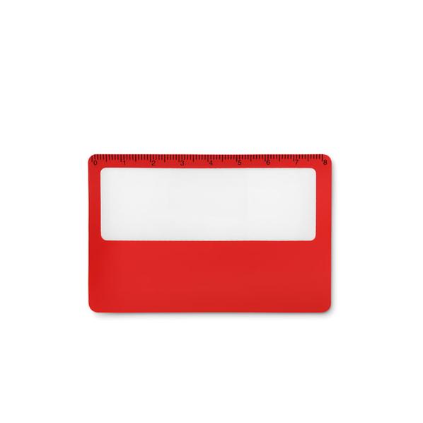 Чехол для кредитной карты с функцией лупы, красный - фото № 1
