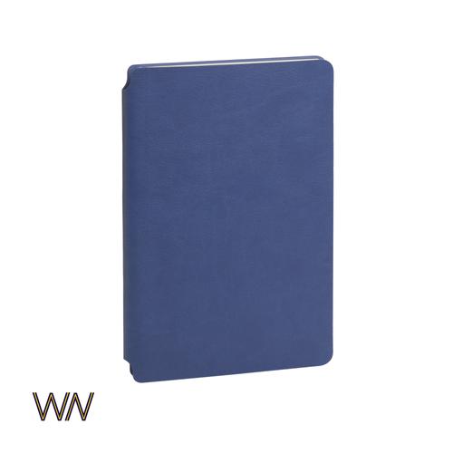 Ежедневник недатированный Wownote Альба А5, гибкая обложка, синий - фото № 1