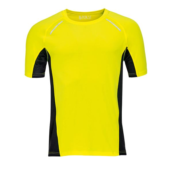 Футболка для бега мужская Sol's Sydney Men 180, желтая - фото № 1