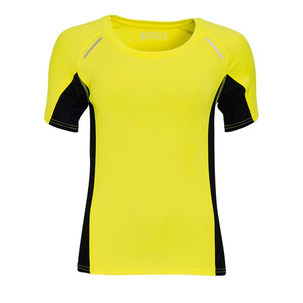 Футболка для бега женская Sol's Sydney Women 180, желтая / черная - фото № 1