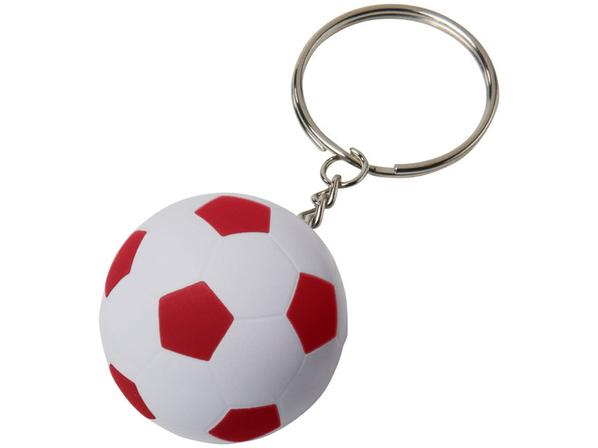 Футбольный брелок Striker, белый, красный - фото № 1