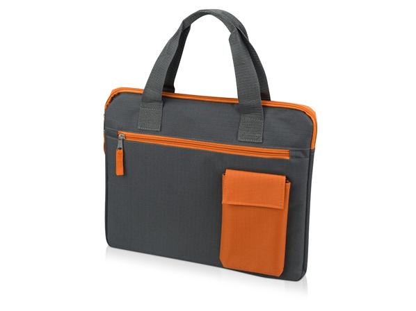 Конференц сумка для документов Session, графит/оранжевый - фото № 1