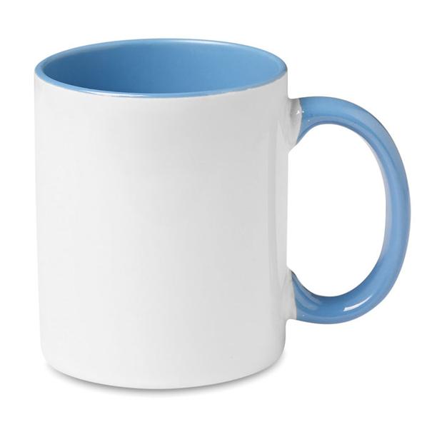Кружка для деколи, белый/голубой - фото № 1