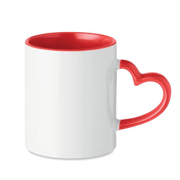 Кружка керамическая под сублима, красный - фото № 1