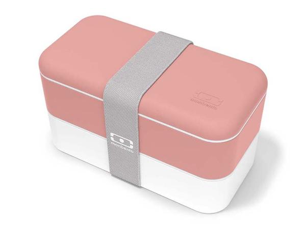 Ланч-бокс из 2 контейнеров по 500 мл Monbento MB Original, розовый / белый - фото № 1