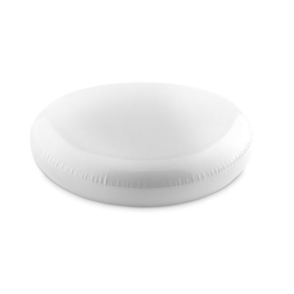 Летающая тарелка фрисби надувная, белый - фото № 1
