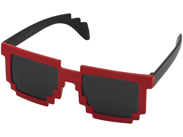 Очки солнцезащитные Pixel, черный/ красный - фото № 1