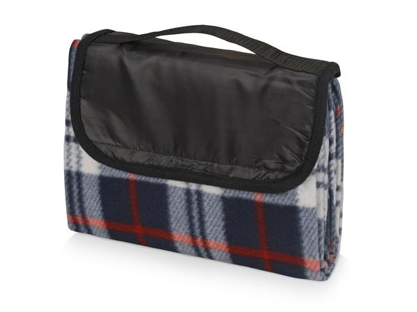 Плед для пикника с непромокаемой подкладкой, синий - фото № 1