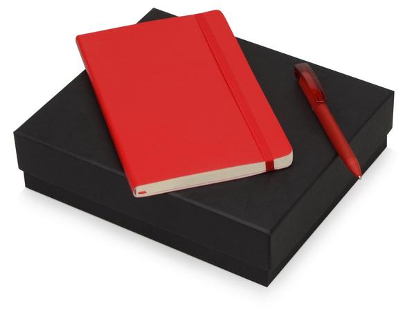 Набор подарочный Moleskine Amelie: блокнот А5, ручка шариковая, красный - фото № 1