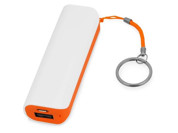 Зарядное устройство портативное Basis, 2000 mAh, белое / оранжевое - фото № 1