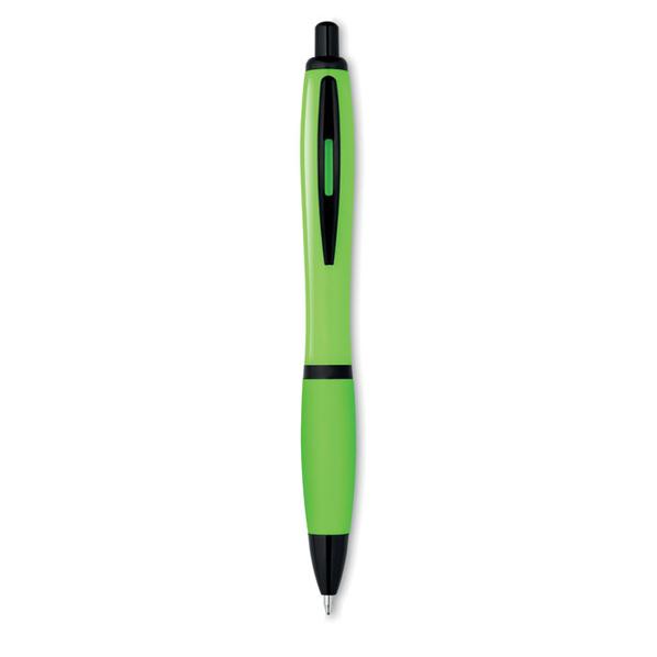 Ручка шариковая пластиковая Riosoft, салатовая / черная - фото № 1
