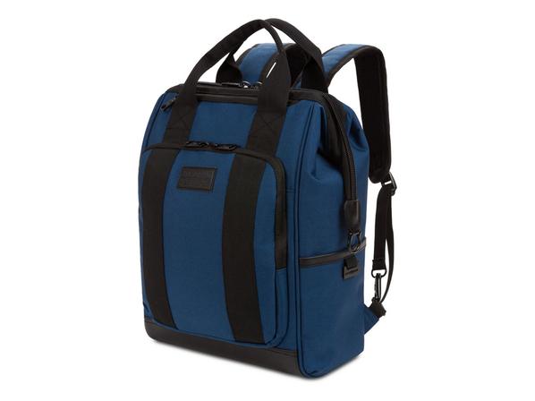 """Рюкзак Swissgear Doctor Bags с отделением для ноутбука 16,5"""", черный/ синий - фото № 1"""