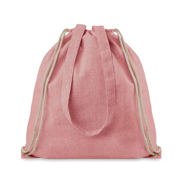 Рюкзак на шнурках из переработа, красный - фото № 1