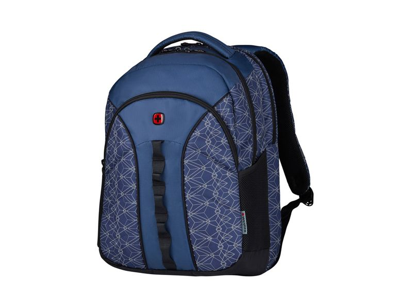 Рюкзак Wenger Sun со светоотражающим принтом, синий - фото № 1