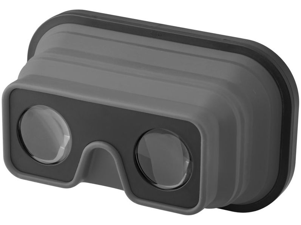 Очки 3D складные силиконовые, черные/ серый - фото № 1