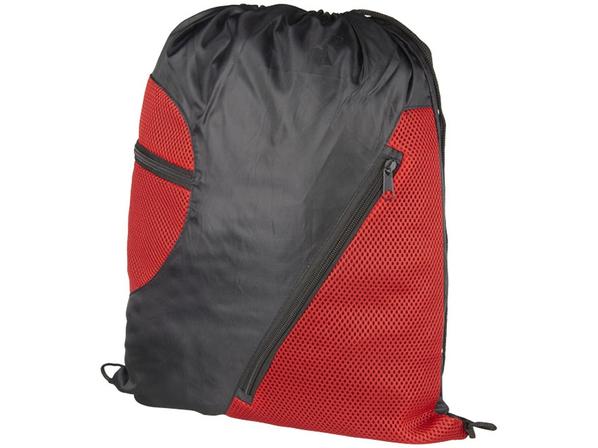 Спортивный рюкзак из сетки на молнии, красный - фото № 1