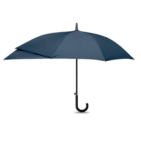 Зонт трость с защитой рюкзака полуавтомат, темно-синий - фото № 1