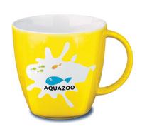 Фарфоровая чашка Maxim Cafe, 0,2 л., желтый - фото № 1
