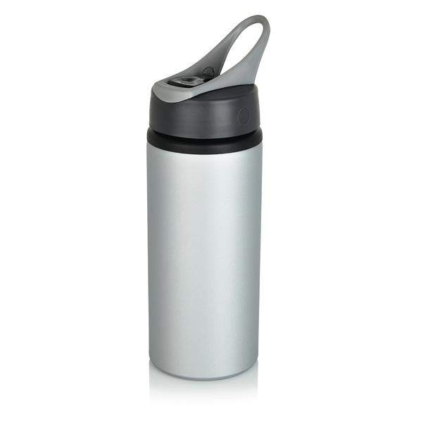 Бутылка для воды спортивная 600 мл, серый - фото № 1