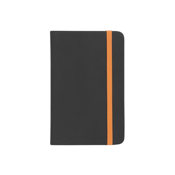 Бизнес блокнот в линейку Wownote Бергамо A6, 196 стр., черный/ оранжевый - фото № 1