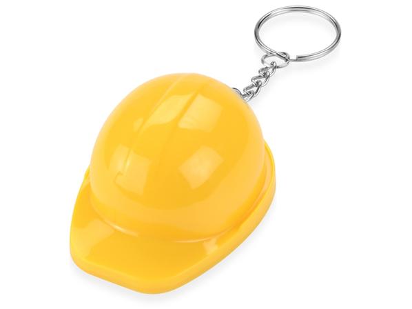 Брелок - открывалка Каска, желтый - фото № 1