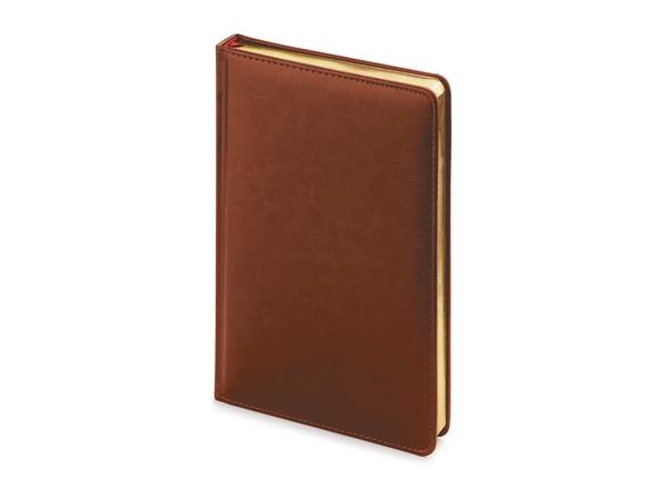 Ежедневник недатированный Альт Sidney Nebraska А4, коричневый - фото № 1