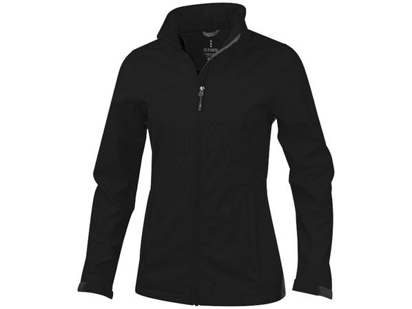 Куртка софтшел женская Elevate Maxson, черная - фото № 1