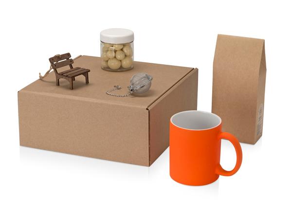 Подарочный набор Tea Cup Superior, коричневый, оранжевый - фото № 1