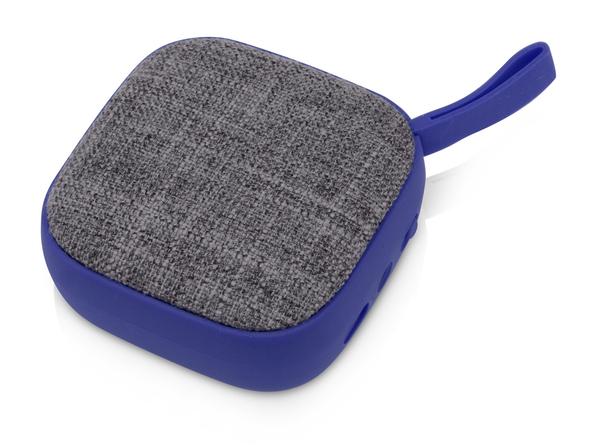 Колонка портативная Arietta, синяя/ серый меланж - фото № 1