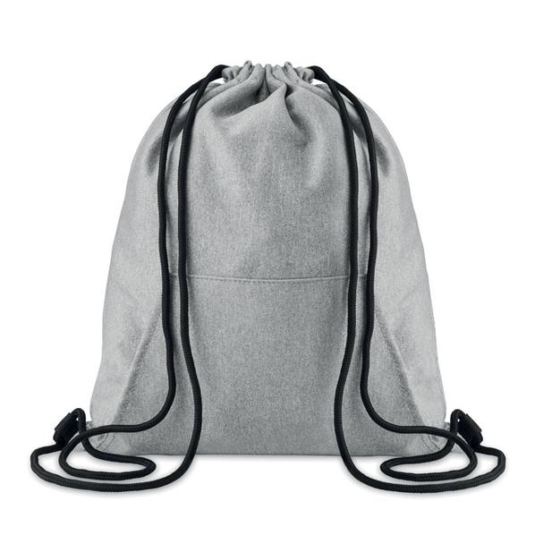 Рюкзак с карманом, серый - фото № 1