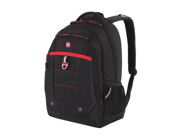 """Рюкзак с отделением для ноутбука 15"""" Swissgear, красный/ черный - фото № 1"""