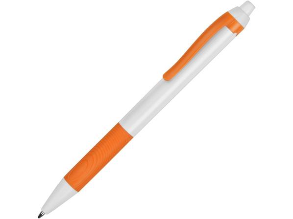 Ручка шариковая пластиковая Centric, белая / оранжевая - фото № 1