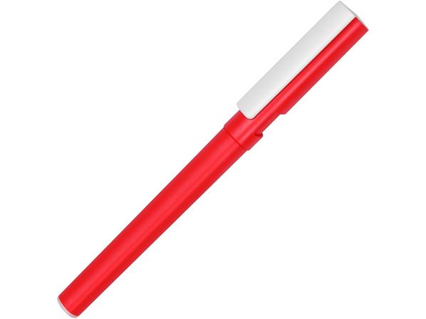 Ручка шариковая пластиковая трехгранная / подставка для телефона Nook, красная / белая - фото № 1