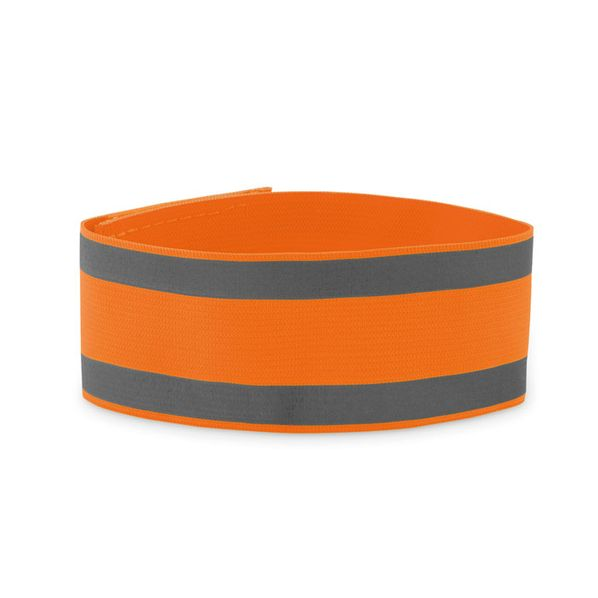 Спортивный браслет из лайкры, оранжевый - фото № 1