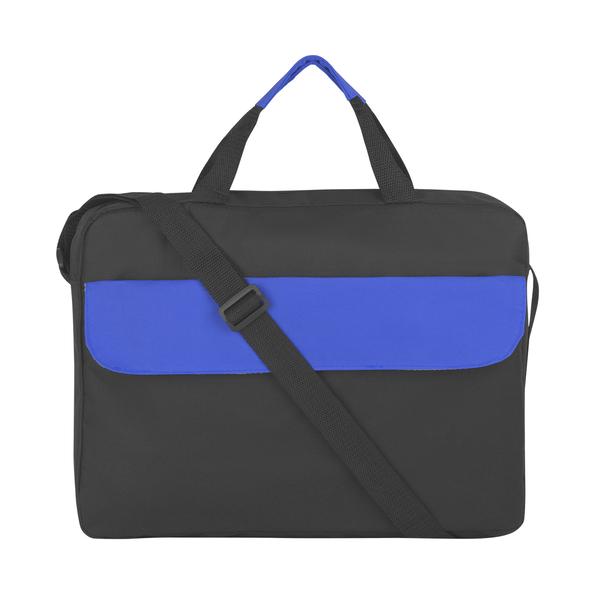 Сумка для документов Бристоль, черный/синий - фото № 1