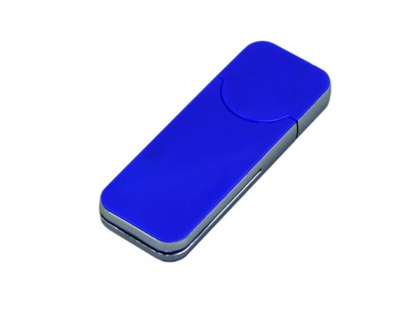 Флешка USB 2.0 в стиле IPhone, 8 Гб, синяя - фото № 1
