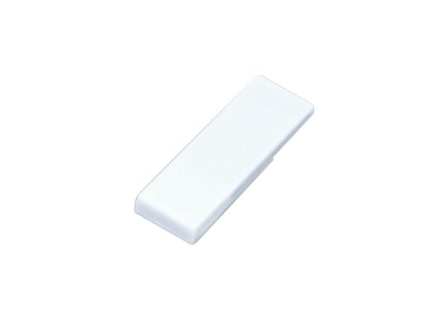 USB-флешка промо на 16 Гб в виде скрепки, белый - фото № 1