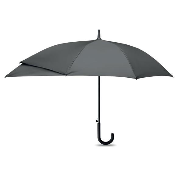 Зонт трость с защитой рюкзака полуавтомат, серый - фото № 1