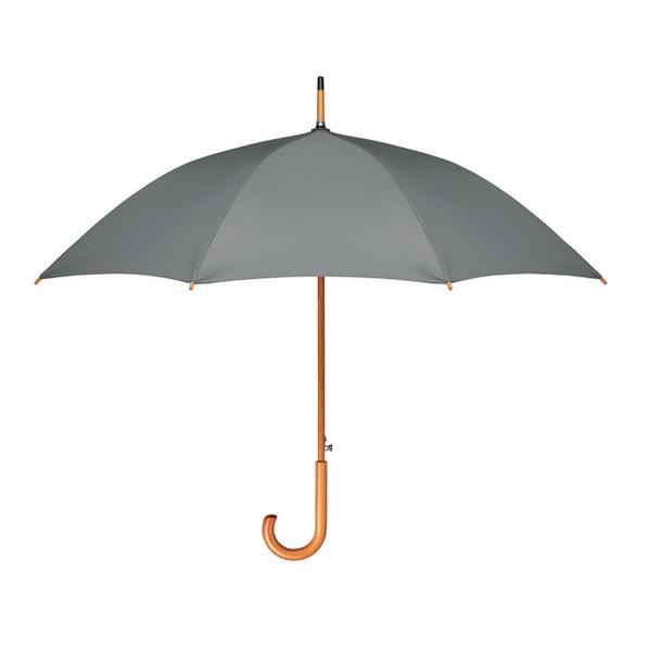 """Зонт трость полуавтомат 23,5"""" серый - фото № 1"""