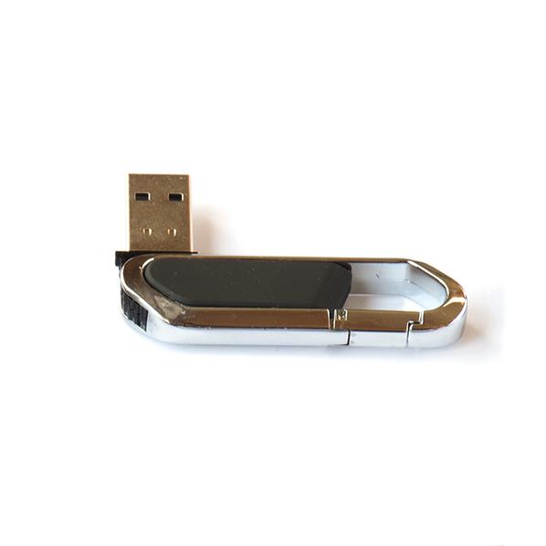 Флешка Карабин, пластиковая с металлической вставкой, черная, 32Гб - фото № 1