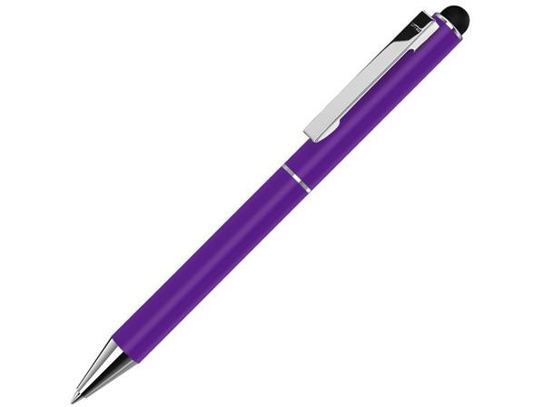 Ручка-стилус шариковая металлическая Straight SI Touch, фиолетовая - фото № 1