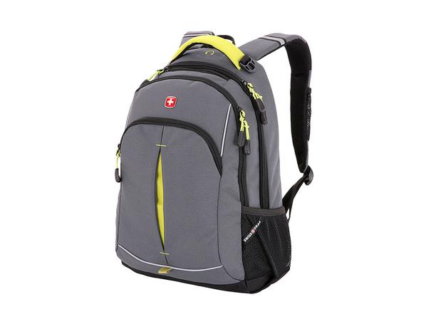Рюкзак Swissgear, серый/ желтый - фото № 1