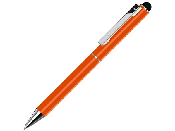 Ручка-стилус шариковая металлическая Straight SI Touch, оранжевая - фото № 1